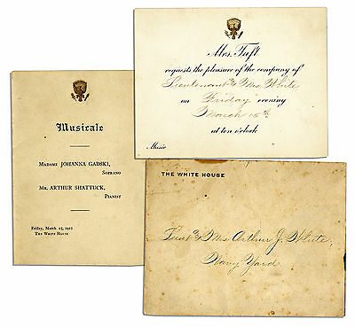 Taft Presidential Invitation to a Musical Performance