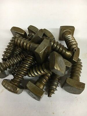 5/16 x 1 Square Head Lag Bolt Screw Steel Plain Antique Old Style 100 Pcs.