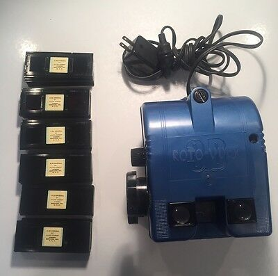 ROTO-VUER 3D Stereo Rotary VIEWER w 60 Slides & Power Plug ~ Allen Cobert