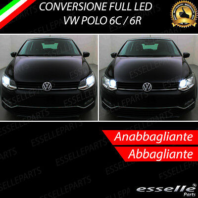 Kit Fari Full Led Vw Polo 6C 6R Anabbaglianti Abbaglianti 6000K Canbus No Error