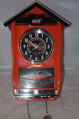Handcrafted 1969 Dodge Charger Wall Clock light sound by Bradford Exchange