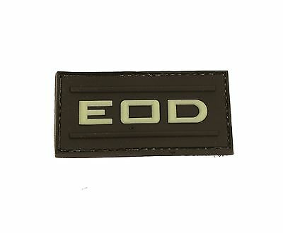 Glow in the Dark EOD Self-Adhesive Tactical Polymer Patch 3.5x7cm
