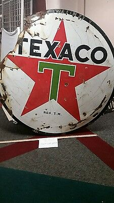 original texaco porcelain sign gas oil