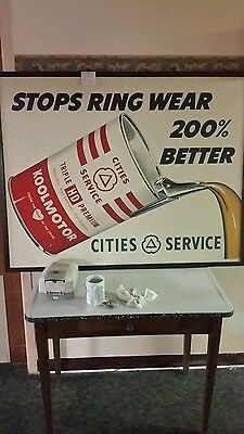 cities service oil gas koolmotor sign