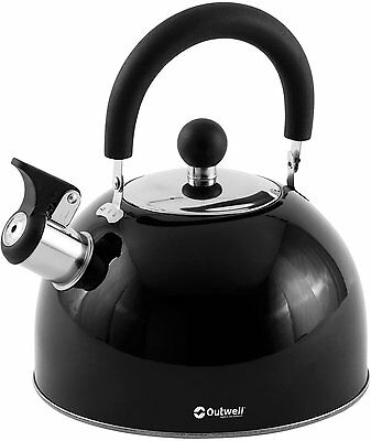 Outwell Stove Camping Black Kettle Stainless Steel Durable Caravan *All Sizes*