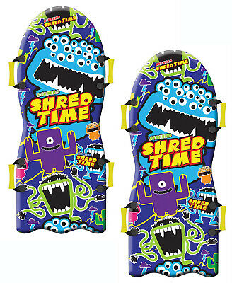 """Airhead Shred Time Foam Snow Sled 49"""" - Winter Sledding Fun for All - 2 Pack"""