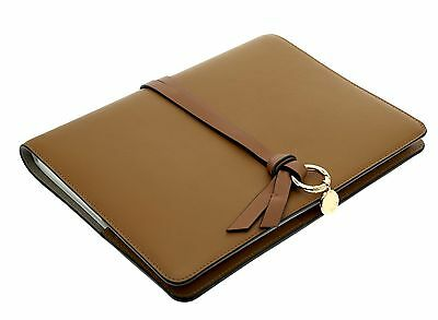 Chloe Agenda Organizer Planner Notebook Brown Leather Cover New
