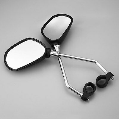 1Pair Bicycle Mobility Scooter Road Bike Handlebar Rear Back View Mirror Glass