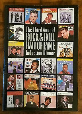 Beatles Induction Into The  Rock N' Roll  Hall Of Fame●Invatation●Letter●Program