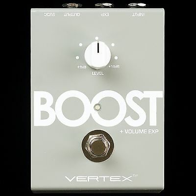 New Vertex Effects Transparent Clean Boost W/ Buffer & Volume Pedal Control