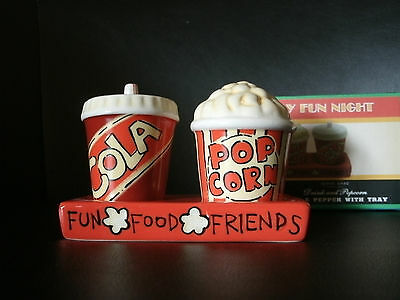 New Party Time 3-PC Popcorn & Cola Salt and Pepper Shakers