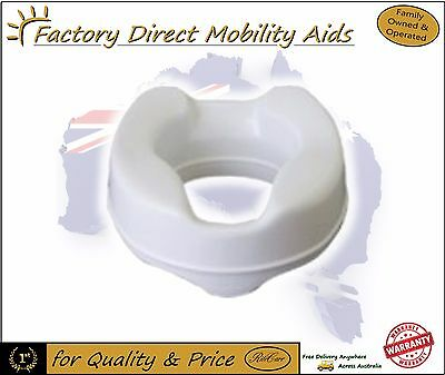 """Aspire Elevated Toilet Seat Raiser 6"""" 150mm Without Lid 200kg Weight Capacity"""