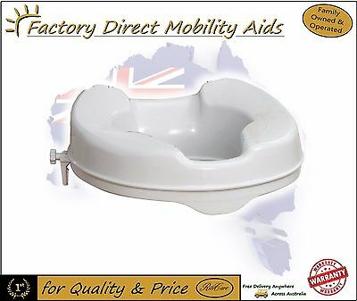Aspire Raised Toilet Seat Raiser 2 inch 5 cm 50mm Without Lid Free Freight