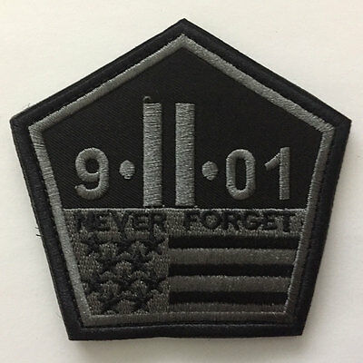 Never Forget September 11 Attacks 9/11 USA Flag Tactical Patriot Morale Patch
