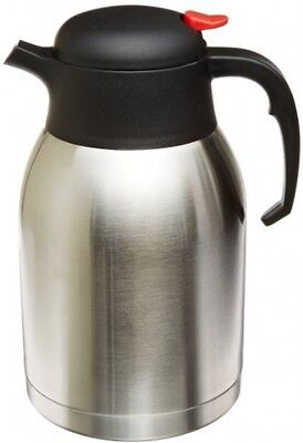 Stainless Steel Insulated Carafe Double Wall Tea Pot Hot Cold Coffee Beverage 2L