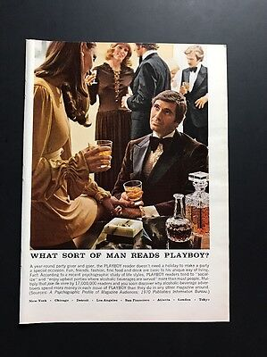 What Sort Of Man Reads Playboy? | Vintage  Ad | Drink Liquor Talk To Woman