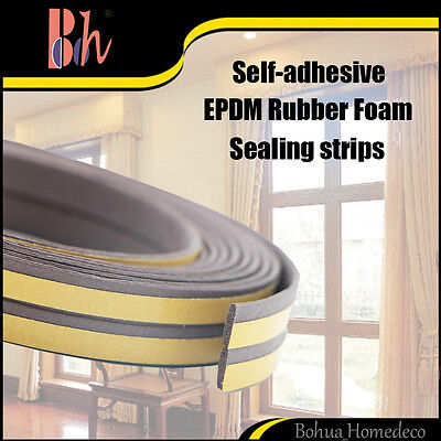 Self-adhesive EPDM Rubber Doors Windows Seal Excluder Weather Stripping I Type