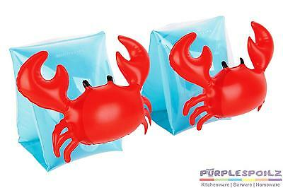 NEW SUNNYLIFE INFLATABLE ARM BAND CRABBY Pool Beach Swimming Toy Blowup Float