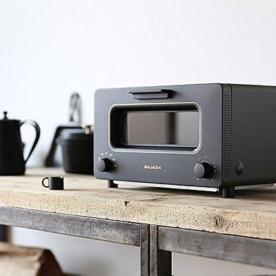 BALMUDA Steam Oven The Toaster K01A-KG Black Shipping Ιrom JAPAN