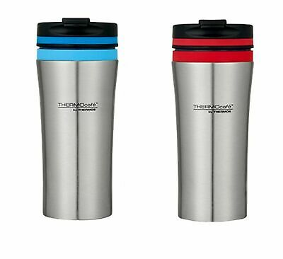 THERMOS THERMOCAFE DOUBLE WALL STAINLESS STEEL TRAVEL TUMBLER 380ml RED BLUE