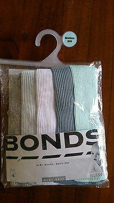 Bonds Baby Boys vest/singlets 5 pack various colours sz0000 BNWT free post D81