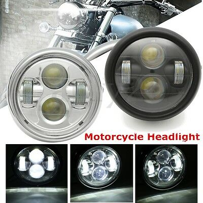 Motorcycle Projector Daymaker Hi/Lo LED Light Bulb Headlight DRL For Harley