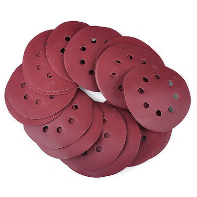 20x 125mm 8 Hole Hook Sanding Disc Loop Sander Polishing Sandpaper 400-1000 Grit