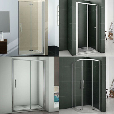 Bifold Pivot Sliding Quadrant Door Walk In Shower Enclosure Glass Screen Cubicle