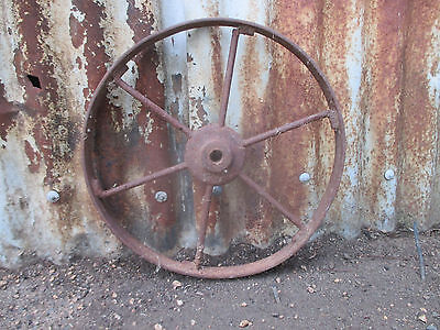 "No--01--OLD  VINTAGE  STEEL   WHEELS   GREAT   DISPLAY -14  1/2  ""  H x 1  1/4 """