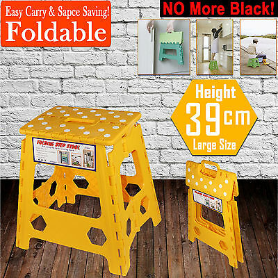 39cm Folding Step Stool Kitchen Garage Foldable Carry Storage Fishing Chair Yelo