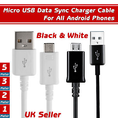 5-10 Pack Micro USB Data Sync Cable Charger Lead for Samsung HTC  Android Phones