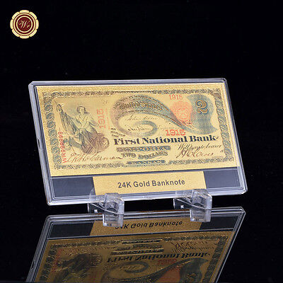 WR 1875 American $2 US Dollar Collecting Banknotes World Banknote Values + Frame