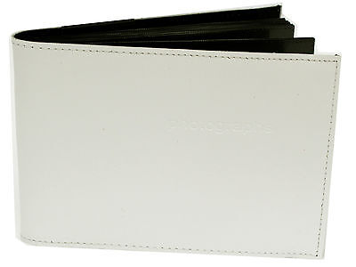 White 6 x 8 in Quality Archival Slip In Pocket Photo Album holds 60 photos