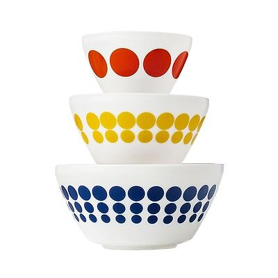 Pyrex Vintage Charm Spot On 3 Piece Mixing Bowl Set, inspired by Pyrex