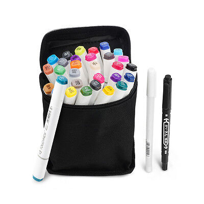 TOUCHNEW 30 Colors Artist Dual Head Sketch Markers Pen + Free Carry Bag