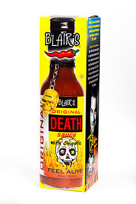 Blair's ORIGINAL DEATH SAUCE (with Chipotle)!  Blairs Chilli Chili Hot Sauce.
