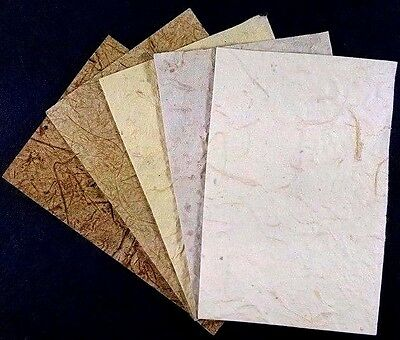 10 A4 Natural Mulberry Paper Handmade Scrapbook Craft Card DIY Invitations Decor