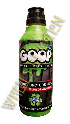 Goop Tyre Puncture Sealant Puncture Preventer / Proofer Kit 500ml Bottle