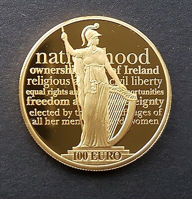 IRELAND 100 Euro 2016 24k GOLD Proclamation Irish Republic Coin only 1000 issued