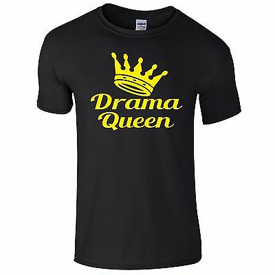 Drama Queen Funny Tee T-Shirt Top Tumblr Novelty Xmas Gift Secret Santa