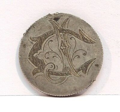 Antique 1875 Seated Liberty Silver Dime Love Token 10c Ten Cent U.S. Currency