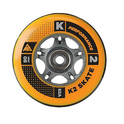 K2 Inliner Rollers Set 8 Piece 80mm 82A + Ball bearing + Spacer for Blades