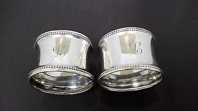 George VI Pair of Silver Napkin Rings- Deykin & Son Birmingham 1935