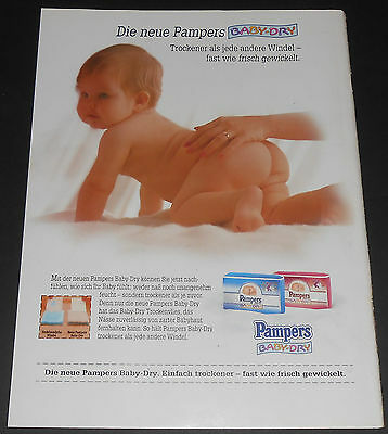 1994 vintage ad page - PAMPERS BABY DRY DIAPERS - GERMANY 1-PAGE PRINT ADVERT