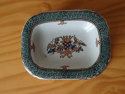 c.19th - Vintage China Chinese Armorial Export Porcelain Jewelery Box