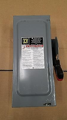 Square D Heavy Duty Safety Switch HU361 30 Amp 600 Volt Non Fusible