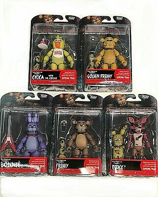 """Authentic Funko Five Nights at Freddy's 5"""" Articulated Action Figure Set FNAF"""