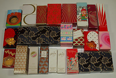 Vintage Avon LOT of 27 Small COLOGNES Perfumes w/ Boxes See Details