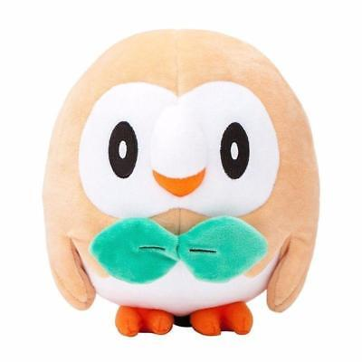 New 7in Pokemon Center Rowlet Plush Toy Soft Stuffed Animal Teddy Doll Gift