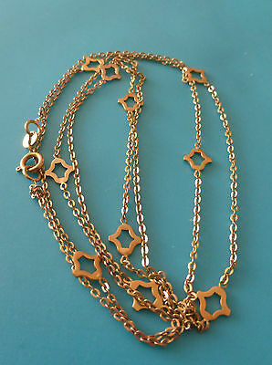 Altes  Kette Collier 333er Gold    //  79 cm/